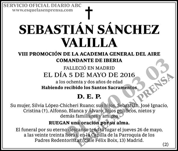 Sebastián Sánchez Valilla
